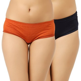 Women's Pack Of 2 Plain Panty ( Color May Vary)