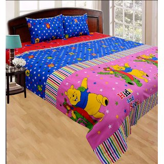 beautiful cotton queen size double bedsheet with 2 pillow covers