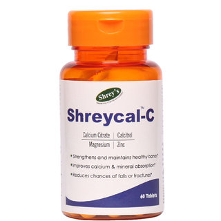 Shreycal-C Calcium Magnesium Zinc - 60 Tablets (for Complete Bone Health)