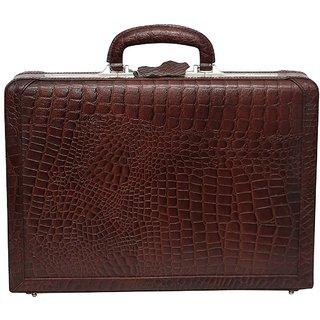 C Comfort Genuine Leather Expandable Briefcase Office Bag EL449