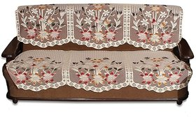 Embossed printing 3 Seater kniting Sofa Cover Set -6 Pieces by vivek homesaaz