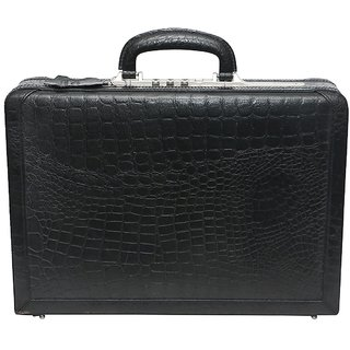 C Comfort Genuine Leather Expandable Briefcase Office Bag EL451