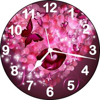 3d heart wall clock