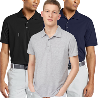 The FAB69 Black, Navy  Grey Melange Color  Jersey Polo Shirt
