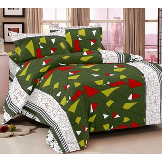 Story Home Multi Colour 100 Cotton Magic 1 Double Bedsheet With 2 Pillow Cover-MG1297