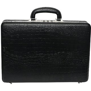 C Comfort Genuine Leather Expandable Briefcase Office Bag EL452