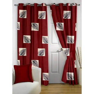 Story@Home Maroon  Door Curtain Nature-DNR3009