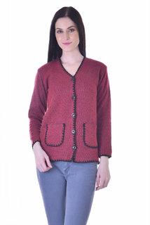 American Sia New Stylish sweater V-shape Neck Fabric Woolan