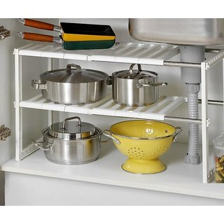 Kumaka Stainless Steel Household multipurpose adjustable Sink Shelf Retractable Storage Rack