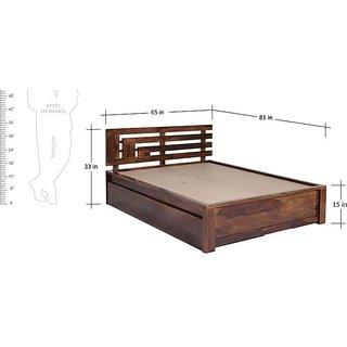 Corner Block Queen Size Storage Bed