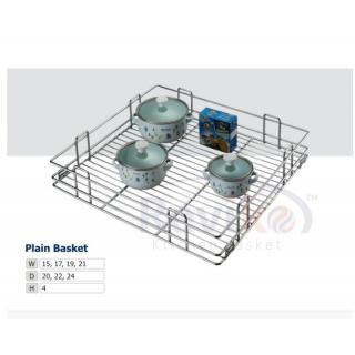 Plain kitchen basket ( 19-20-4 inches ) 100 stainless steel basket