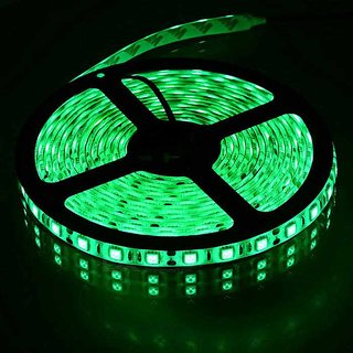 Best Ideas 5 Meter Green LED Strip Non Waterproof 12 Volt Dc (Can Be used with Ac to Dc Adapter or 12V Battery Only)