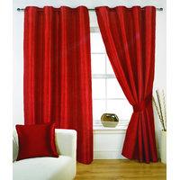 Fabutex Heavy Velvet Plain Rust Eyelet Door Curtain