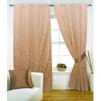 Fabutex Poly Jacquard Weave Fauna Gesign Beige Eyelet Window Curtain