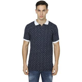 Stylogue Printed Mens Navy T shirts