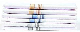 Men'S Jumbo 100 Cotton Handkerchief Set Of 6 Pc