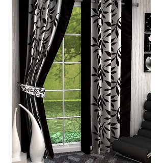 Shivaay Home Creations Abstract Eyelet Window Curtains 45 Feet Set Of 2