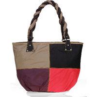 Lady Queen Multi Fabric Shoulder Bag
