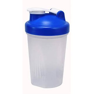 Gym Sipper Shaker with Transparent Body and Assorted Cap