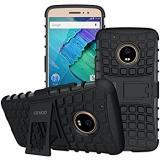 Moto G5S+  / G5S PLUS Defender Shock-Proof KickStand Full Protection Cover Case Black