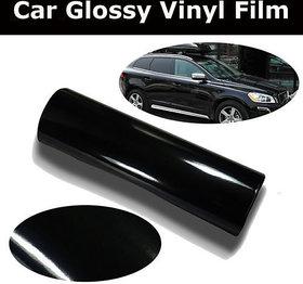 24x24 Glossy Black Vinyl Car Wrap Sheet Roll Film Sticker Decal