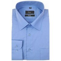 Grahakji Men's Blue Regular Fit Formal Poly-Cotton Shirt