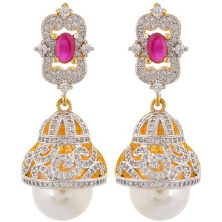 Tistabene Retails Contemporary American Diamonds Stylish Party Wear Jhumki  Earring For Women And Girls (ER-0874)