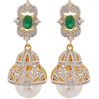 Tistabene Retails Contemporary American Diamonds Stylish Party Wear Jhumki Earring For Women And Girls (ER-0875)