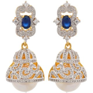 Tistabene Retails Contemporary American Diamonds Stylish Party Wear Jhumki Earring For Women And Girls (ER-0876)
