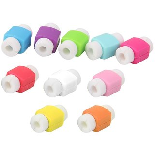 TRASS Imported 10pcs Protector Saver Cover for USB Charger Cable Cord-14018822MG (Assorted color)