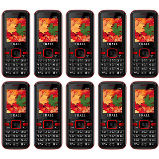 Combo Of 10 , K14 I Kall Dual Sim Multimedia Mobile Phone With FM Bluetooth