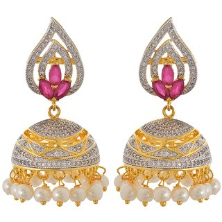 Tistabene Retails Contemporary American Diamonds Stylish Party Wear Jhumki Earring For Women And Girls (ER-0886)