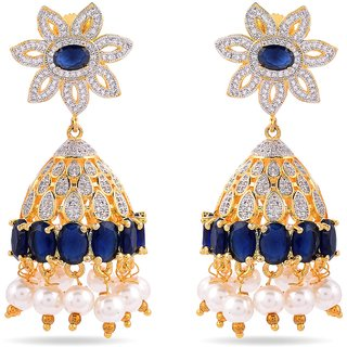Tistabene Retails Contemporary American Diamonds Stylish Party Wear Jhumki Earring For Women And Girls (ER-0888)