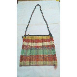 Buy Recyled handloom sling bag Online   ₹449 from ShopClues 31b967333f6d4