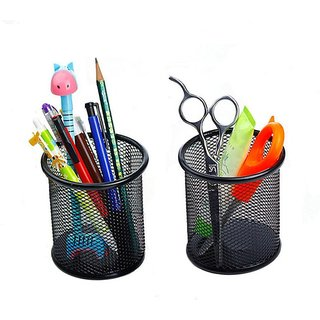 Fabulo Pack of 2 Metal Pen Pencil Tool Holder Table Desk Organizer for Home Office