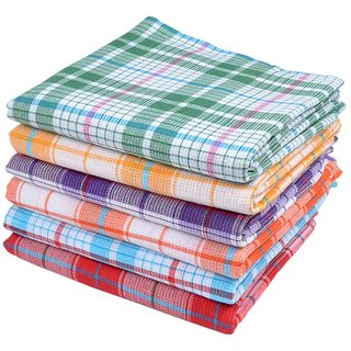 Home Cotton Set of 2 Handloom Bath Towel Large Multicolor