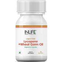 INLIFE Lycopene Wheat Germ Oil, 30 Veg Capsules For Pro