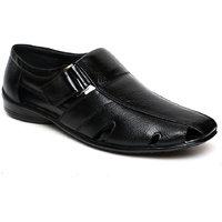 C Comfort Black Men Formal Genuine Leather Sandal