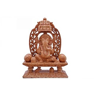 Shopping Rajasthan Wooden Aasan Ganesha
