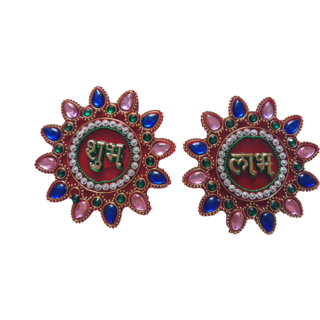 Traditional Stone Embellished Shubh Labh Door Hanging