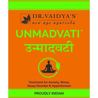 Dr. Vaidya's - Unmadvati - Relief From Anxiety & Hypertension, 24 pills per packet (Pack of 3)