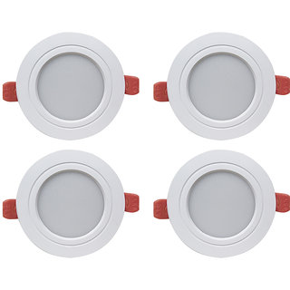 Bene LED 7w Ray Round Ceiling Light, Color of LED White  (Pack of 4 Pcs)