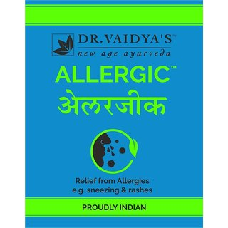 Dr. Vaidya's - Allergic - Relief from Allergies, 24 pills per packet (Pack of 3)