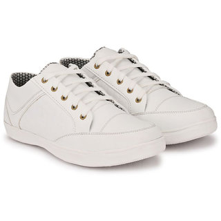 Layasa Mens White Lace-up Smart Casual Shoes