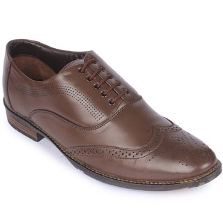 Jackboot Men's Brown Lace-up Brogues Formal Shoes