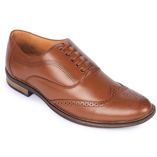 Jackboot Men's Tan Lace-up Brogues Formal Shoes