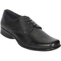 Jackboot Men's Black Lace-Up Derby Formal Shoes