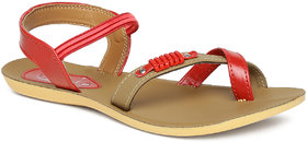 Paragon Women'S Red Sandals