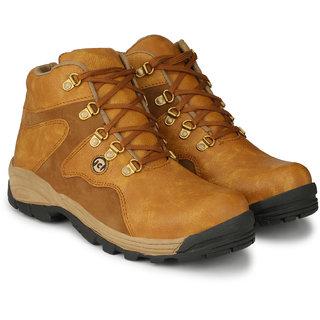 Layasa Mens Tan Lace-up Smart Casual Shoes