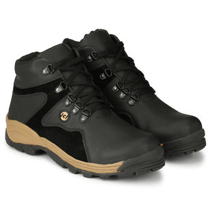 Layasa Mens Black Lace-up Smart Casual Shoes